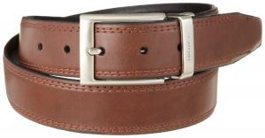 Nautica Men's 35MM Saddle-Leather Reversible Belt