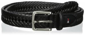 Tommy Hilfiger Men's Big-Tall Casual Braid Belt With Brushed Nickel Buckle