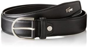 Lacoste Men's Premium Leather Metal Croc Belt