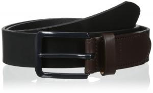 Tommy Hilfiger Men's Dress Casual Belt With Color Block Buckle