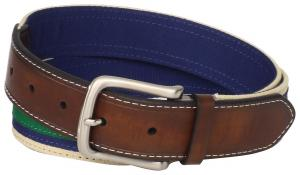 Tommy Hilfiger Men's Layered-Ribbon Leather-Tab Belt