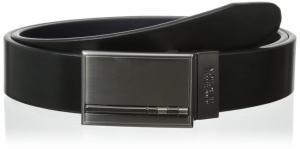 Kenneth Cole REACTION Men's Dress Reversible Belt with Gunmetal Plaque Buckle