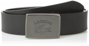 Lacoste Men's Leather Logo Plaque Belt
