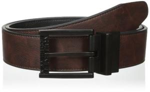 Kenneth Cole REACTION Men's Reversible Belt with Stitch Edge and Matte Buckle