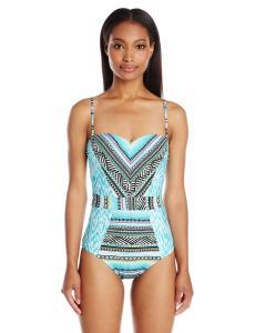 Kenneth Cole Reaction Women's Beach Please Bandeau One Piece Swimsuit