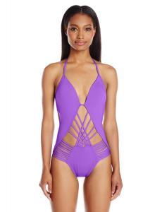 Kenneth Cole New York Women's Desert Heat Wireless Push Up One Piece Swimsuit