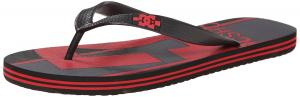 DC Men's Spray Logo Flip Flop