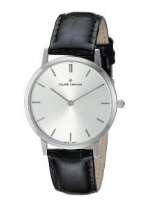 Claude Bernard Men's 2006 3 AIN Classic Gents - Slim Line Analog Display Swiss Quartz Black Watch