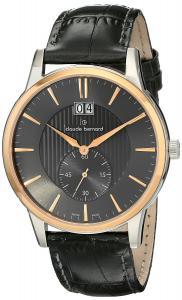Claude Bernard Men's 64005 357R GIR Classic Gents Analog Display Swiss Quartz Grey Watch