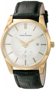 Claude Bernard Men's 65003 3 BR Classic Small Second Analog Display Swiss Quartz Black Watch