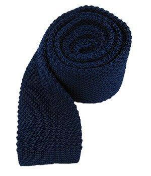 "100% Silk Blue Knit Skinny 2"" Neck Tie"