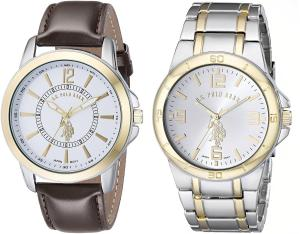 Đồng hồ U.S. Polo Assn. Classic Men's USC2254 Analog Display Analog Quartz Multi-Color Watch Set