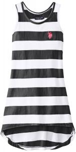 U.S. POLO ASSN. Little Girls' Striped Hi Lo Dress