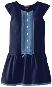 Nautica Little Girls' Drop-Waist Pique Dress