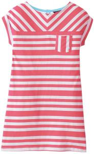 Nautica Big Girls' Jersey Dress with Dolman Sleeve and Pocket