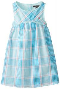Nautica Little Girls' Empire-Waist Plaid Dress