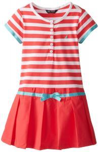 Nautica Little Girls' Paperbag Drop-Waist Dress