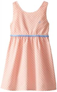 Nautica Little Girls' Polka Dot Oxford Dress
