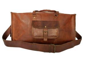 Mens Travel Bag [Genuine Leather] Duffel Bag Weekender Bag Boarding Bag Luggage