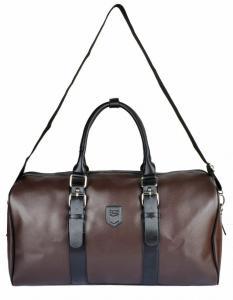 Kenox Unisex Large Pu Leather Business Carry on Duffel Bag Weekend Travel Bag