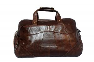 Genuine Leather Travel Bag Weekender Bag Boarding Bag Luggage for Men Women