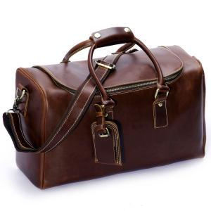 Leathario Mens Leather Weekend Travel Duffel Bags