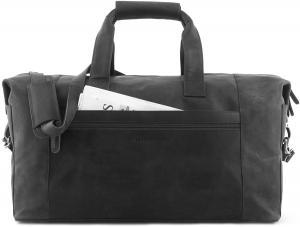 "LEABAGS - Unisex Leather Travel Weekender Holiday Sports Bag ""DUBAI"" Vintage Style made of Genuine Buffalo Leather"