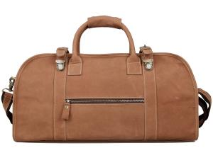 Iblue 20.5 Inch Oversized Vintage Leather Travel Bags Tote Luggage Duffel Handbag#968