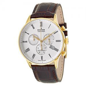 Edox Les Vauberts Chronograph Men's Quartz Watch 10408-37JA-AR