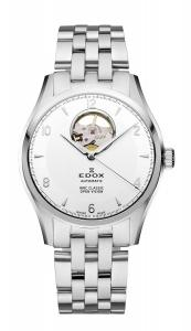 Edox Men's 85016 3 AIN WRC Automatic White Dial Brushed And Polished Stainless Steel Bracelet Watch