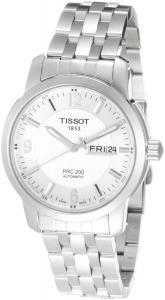 Tissot Men's T0144301103700 PRC 200 Silver Guilloche Day Date Dial Watch
