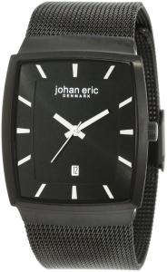 Johan Eric Men's JE1002-13-007 Tondor Tonneau Black IP Mesh Stainless Steel Watch