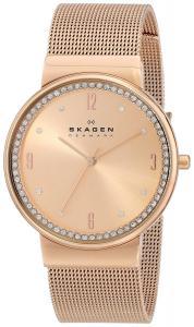Skagen Women's SKW2130 Ancher Quartz 3 Hand Stainless Steel Rose Gold Watch