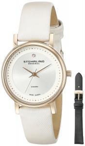 Stuhrling Original Women's 734LS2.SET.01 Symphony Elite Swiss Quartz Diamond White Watch with Interchangeable Strap