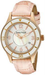 Nautica Women's A16697M NCS 14 MID Analog Display Quartz Pink Watch