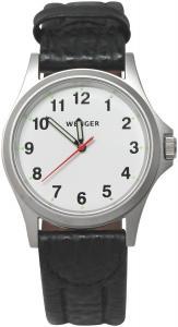 Wenger Black Leather Crocodile Strap Men's Watch 79115BCROC
