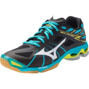 Mizuno Wave Lightning Z Women's Volleyball Shoes - Black & Alaskan Blue