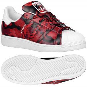 Adidas Originals Superstar AF5581 White/Black/Red Camo Rose Print Women's Shoes