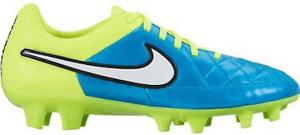 Nike Womens Tiempo Legacy FG Soccer Cleat (Blue Lagoon, Volt)