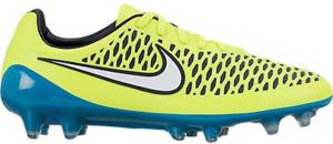 Nike Womens Magista Opus FG Soccer Cleat (Volt, Blue Lagoon)