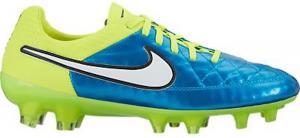 Nike Womens Tiempo Legend V FG Soccer Cleat (Blue Lagoon, Volt)