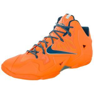 Nike Lebron XI Basketball Shoes Trainers current model orange / blue, Schuhgröße:EUR 47