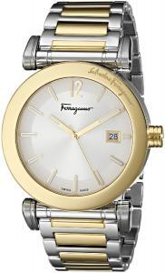 Salvatore Ferragamo Men's FP1850014 Salvatore Analog Display Swiss Quartz Two Tone Watch