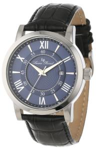 Lucien Piccard Men's 11577-03 Stockhorn Dark Blue Dial Black Leather Watch