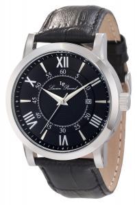 Lucien Piccard Men's 11577-01 Stockhorn Black Textured Dial Black Leather Watch