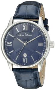 Lucien Piccard Men's 11576-03 Clariden Blue Textured Dial and Leather Watch