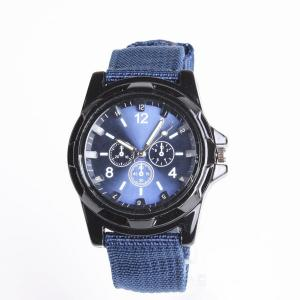 Cool Summer Blue Color Military Army Pilot Fabric Strap Sports Men's Swiss Military Watch