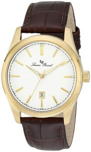 Lucien Piccard Men's 11568-YG-02 Eiger 18k Gold Ion-Plated Watch with Brown Leather Band