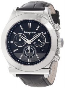 "Salvatore Ferragamo Men's F78LCQ9909 SB09 ""Salvatore Ferragamo 1898"" Stainless Steel Watch with Leather Band"