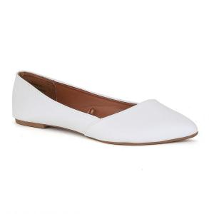 Twisted Womens LINDSAY Slanted Front Almond Toe Flat
